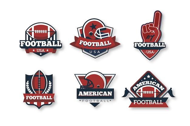 Futbol Amerykański Odznaki W Stylu Retro Darmowych Wektorów