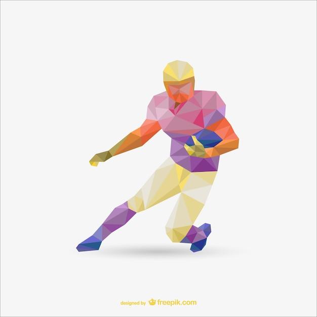 Futbol Amerykański Trójkąt Wektor Wzór Darmowych Wektorów