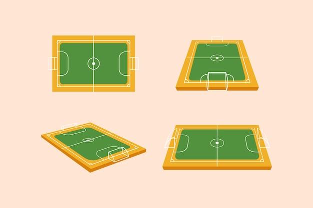Futsal W Różnych Perspektywach Darmowych Wektorów