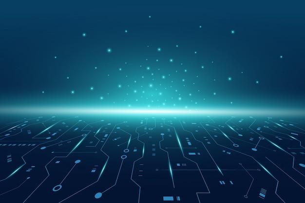 Futurystyczna Płytka Drukowana, Elektroniczna Płyta Główna, Koncepcja Komunikacji I Inżynierii, Koncepcja Technologii Cyfrowej Hi-tech Premium Wektorów