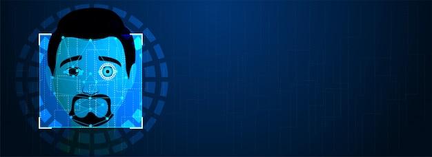 Futurystyczna technologia biometryczna Premium Wektorów