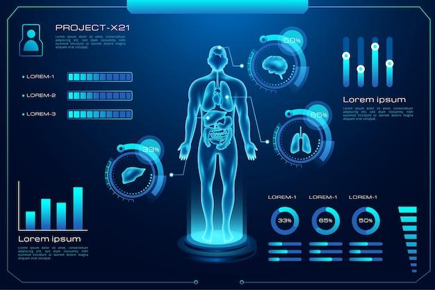 Futurystyczna Technologia Infographic Medyczne Darmowych Wektorów