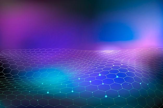 Futurystyczna technologia koncepcja tło gradientowe Darmowych Wektorów