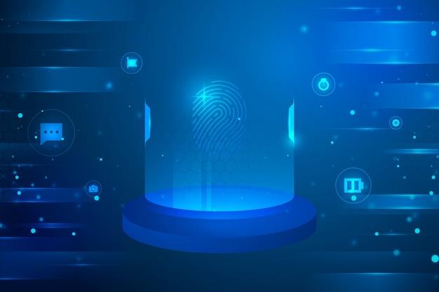 Futurystyczne Tło Z Cyber Okrągłymi Ikonami Darmowych Wektorów
