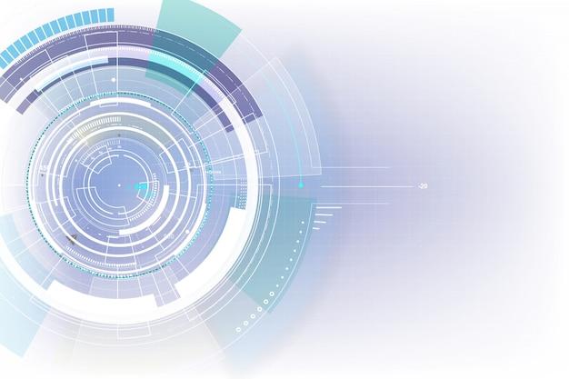 Futurystyczny cyfrowy cyber technologii tło Premium Wektorów