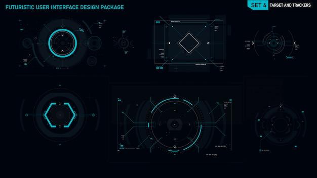 Futurystyczny element interfejsu użytkownika Premium Wektorów