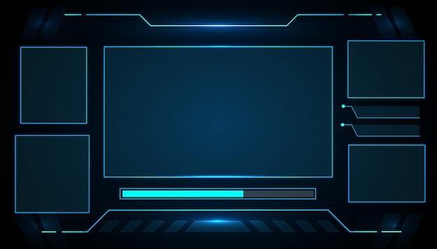 Futurystyczny Interfejs Interfejsu Użytkownika Interfejsu Użytkownika Do Projektowania Technologii Gier Elektronicznych. Premium Wektorów