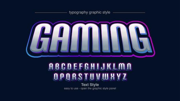 Futurystyczny Kolorowy Sportowy Typografia Artystyczna Premium Wektorów