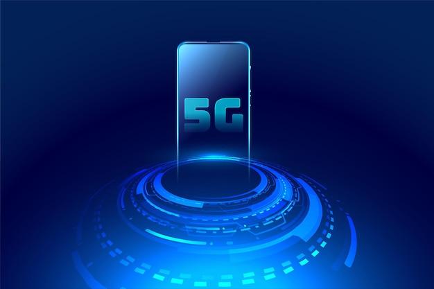 Futurystyczny Koncepcja Technologii Mobilnej Darmowych Wektorów