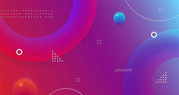 Futurystyczny Kształt Geometryczny Streszczenie Tło Projekt Kolorowy Gradient Nowoczesny Płyn Dynamiczny Premium Wektorów