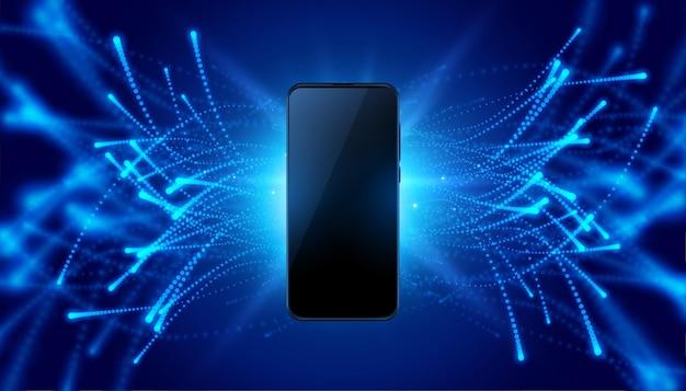 Futurystyczny Mobilny Koncepcja Technologia Styl Tło Darmowych Wektorów