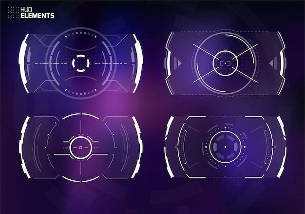 Futurystyczny Projekt Ekranu Interfejsu Użytkownika. Premium Wektorów