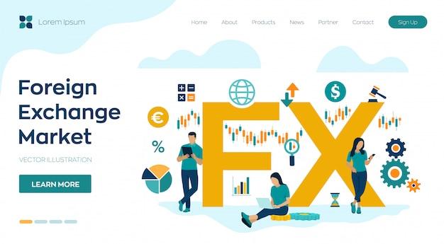 Fx. rynek walutowy. globalny rynek finansowy. bankowość forex. Premium Wektorów