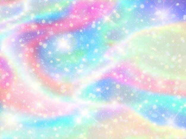 Galaktyka Fantasy Tło I Pastelowy Kolor. Premium Wektorów