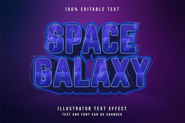 Galaktyka Kosmiczna, Efekt Edycji Tekstu 3d. Premium Wektorów