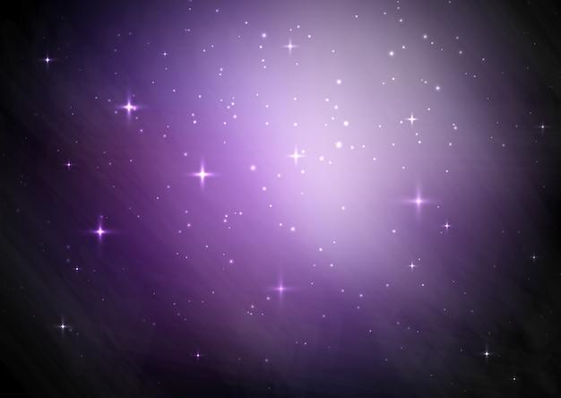Galaxy Gwiaździste Niebo W Tle Darmowych Wektorów