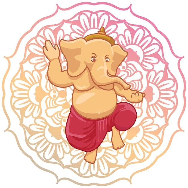 Ganesha wzór tła Darmowych Wektorów