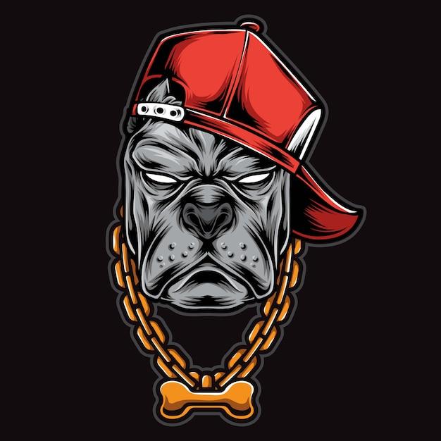Gangster Pitbull Head Premium Wektorów