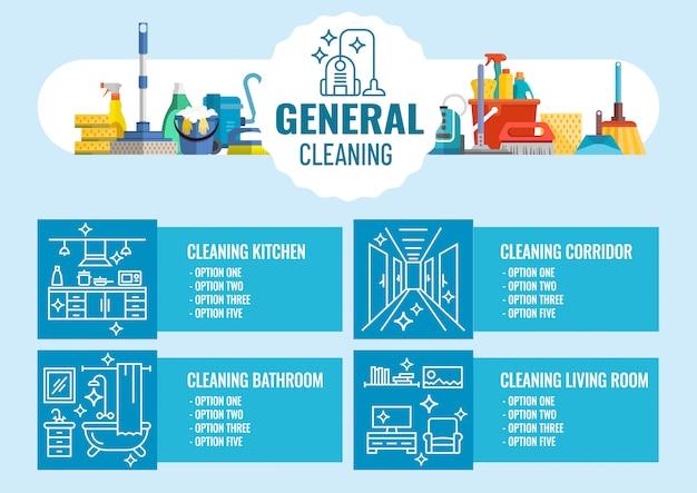 Generalne sprzątanie Premium Wektorów
