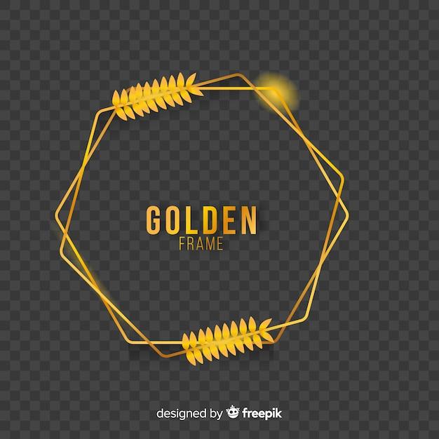 Geometryczna złota ramka z efektami świetlnymi Darmowych Wektorów