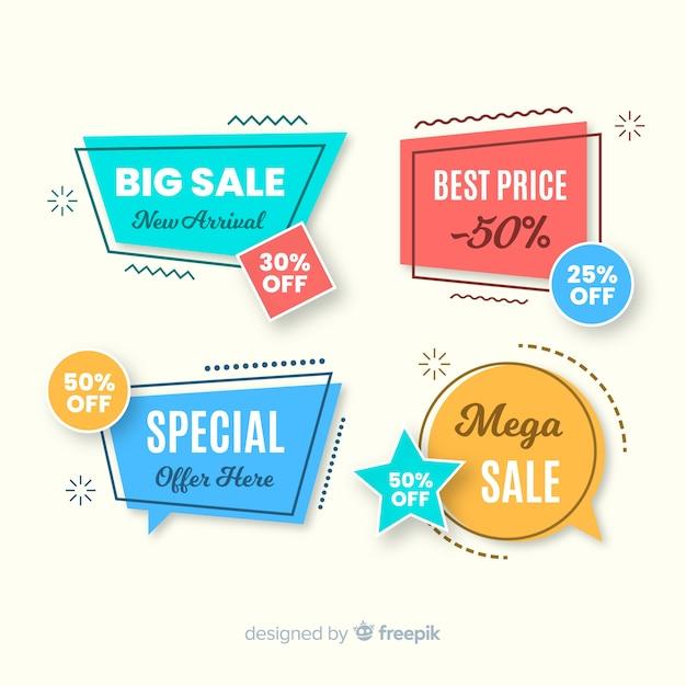 Geometryczne Banery Sprzedażowe Darmowych Wektorów