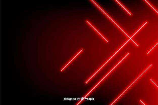 Geometryczne czerwone światła tło realistyczny styl Darmowych Wektorów