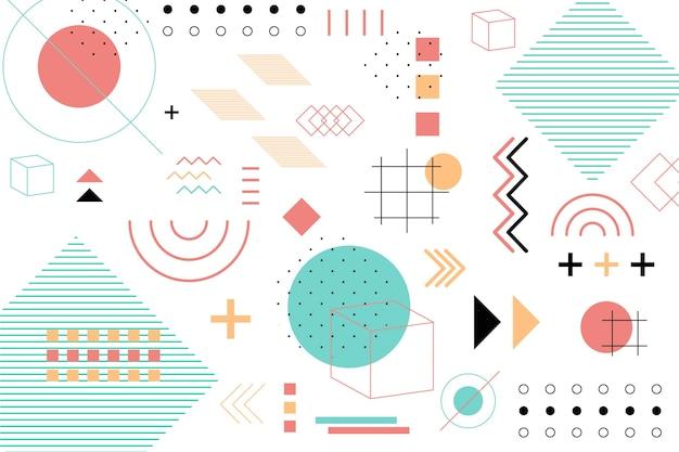 Geometryczne Kształty Płaskie Tło Darmowych Wektorów