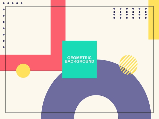 Geometryczne kształty proste tło Premium Wektorów