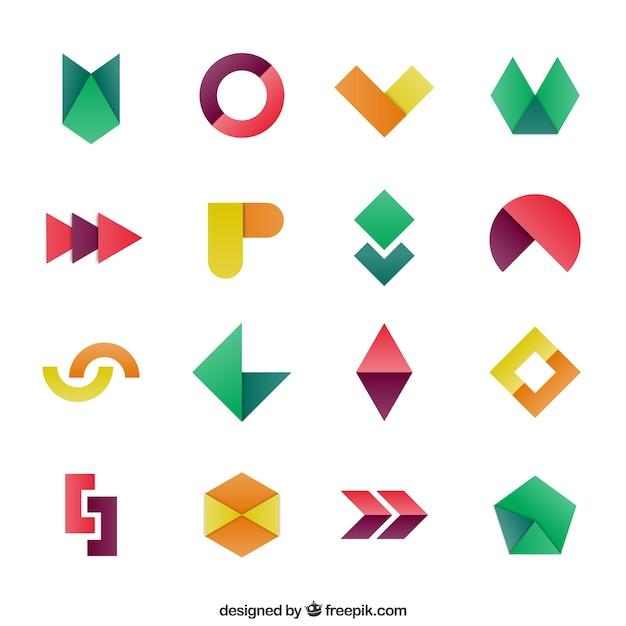Geometryczne kształty w kolorowym stylu Darmowych Wektorów