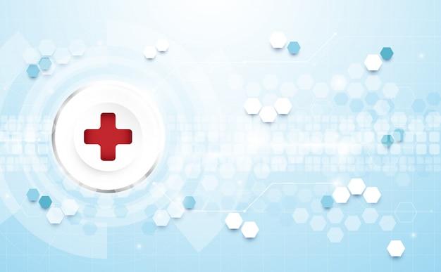 Geometryczne Nowoczesne Tło. Tło Koncepcji Medycyny I Nauki Premium Wektorów