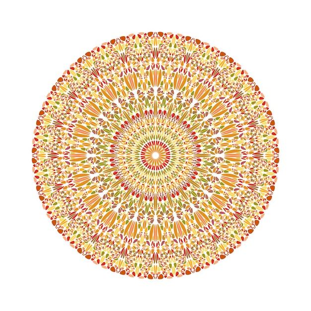 Geometryczne Streszczenie Okrągły Kolorowy Kwiat Ornament Mandali Premium Wektorów