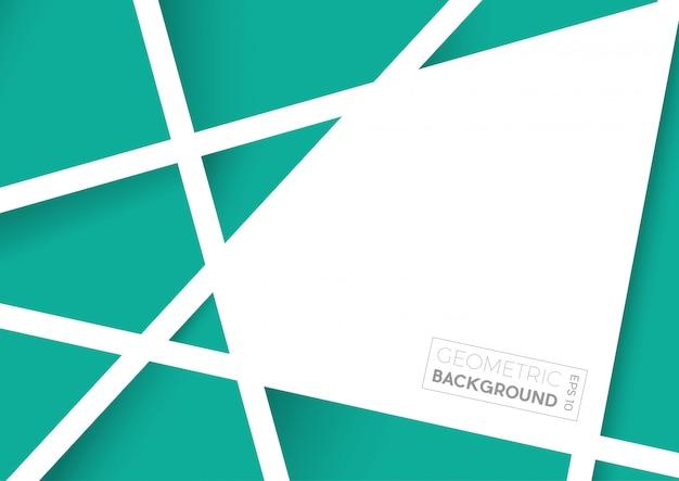 Geometryczne Streszczenie Zielone Wielokąty, Tło Wektor Premium Wektorów