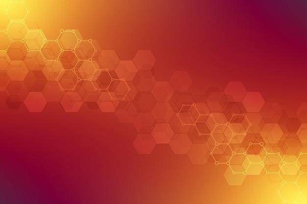 Geometryczne tekstury tła ze strukturami molekularnymi i inżynierii chemicznej. Premium Wektorów