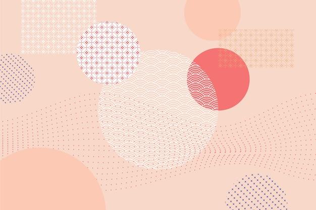 Geometryczne Tło W Japońskim Stylu Koncepcji Darmowych Wektorów