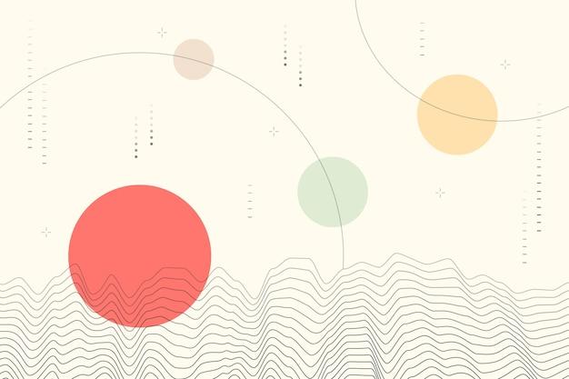 Geometryczne Tło W Stylu Japońskim Darmowych Wektorów