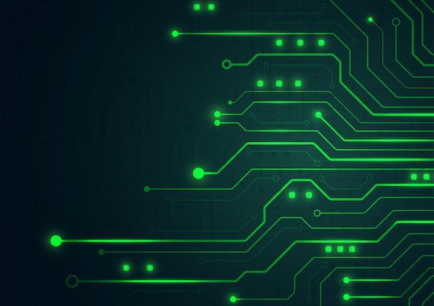 Geometryczne tło zaawansowanej technologii Premium Wektorów