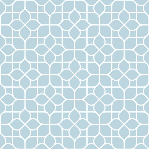 Geometryczny bezszwowy abstrakcjonistyczny kwiecisty wzór Premium Wektorów