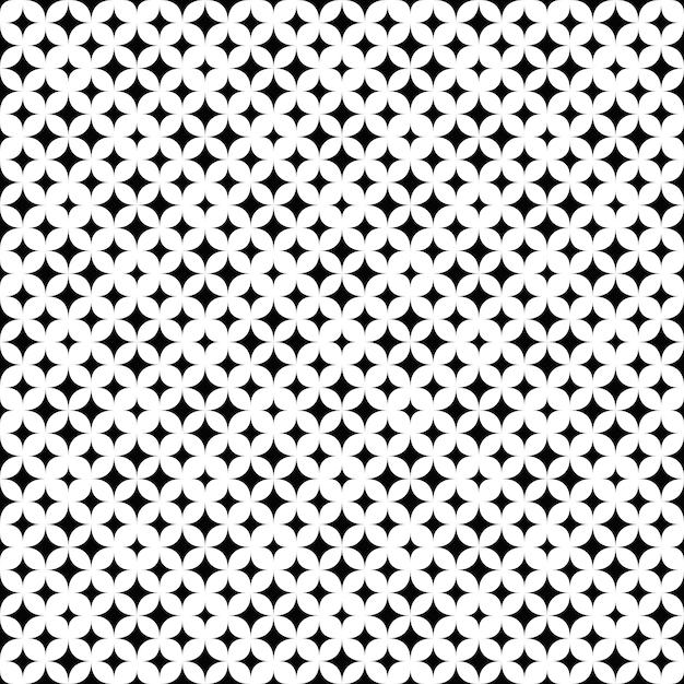 Geometryczny Monochromatyczny Bezszwowy Abstrakcjonistyczny Gwiazdowego Wzoru Tło Premium Wektorów