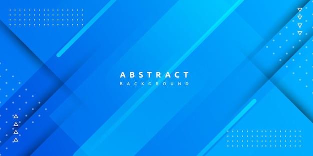 Geometryczny Niebieski Kolor Z Kolorowym Tłem Z Gradientem I Paskiem Premium Wektorów