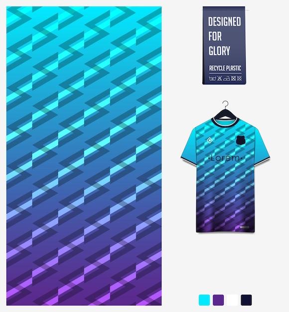 Geometryczny Wzór Na Koszulkę Piłkarską Premium Wektorów