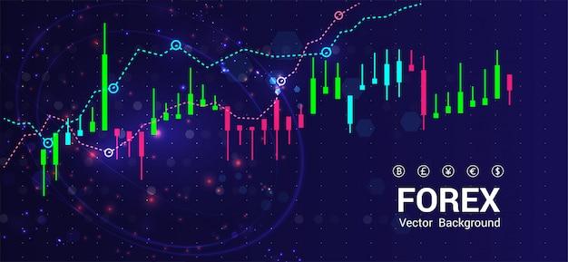Giełda lub handel forex Premium Wektorów