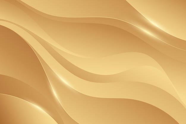 Gładkie Złote Tło Fali Darmowych Wektorów