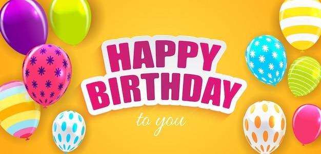 Glansowana wszystkiego najlepszego z okazji urodzin szybko się zwiększać tło wektoru ilustrację Premium Wektorów