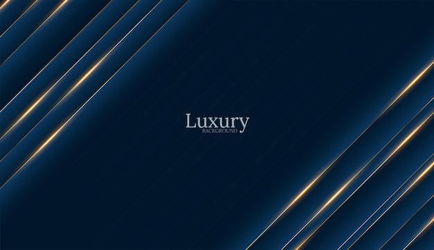 Głębokie Niebieskie Tło Luksusowe Złoto Darmowych Wektorów