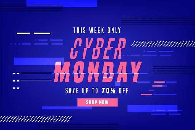 Glitch Cyber Poniedziałek Koncepcja Darmowych Wektorów