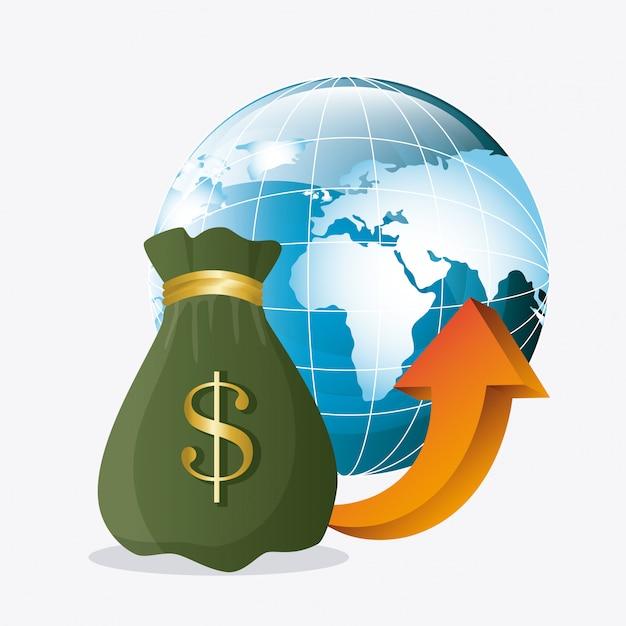 Globalna Gospodarka, Pieniądze I Biznes Darmowych Wektorów
