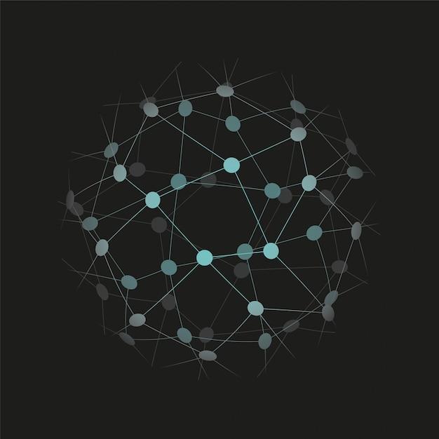 Globalna Ikona Technologii Lub Sieci Społecznościowej. Ilustracji Wektorowych Premium Wektorów