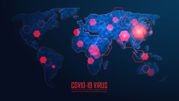 Globalny Wybuch Pandemii Koronawirusa Premium Wektorów