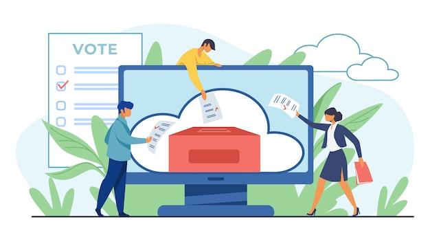 Głosowanie Online Lub Elektroniczne Darmowych Wektorów
