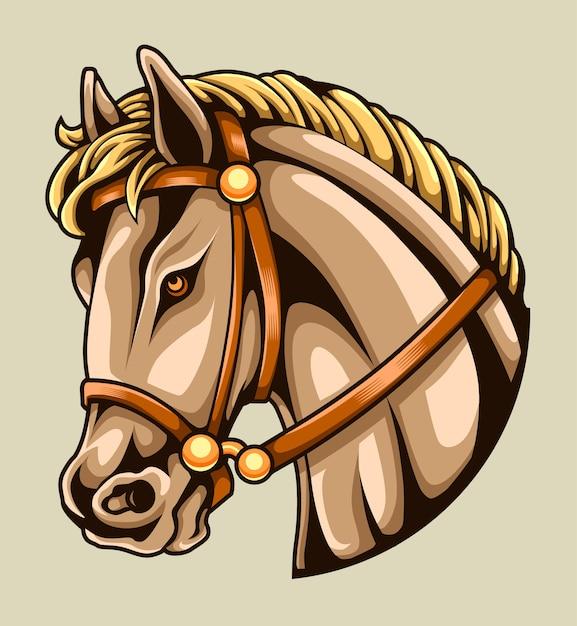 Głowa Konia Premium Wektorów